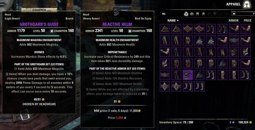 inventory grid view eso